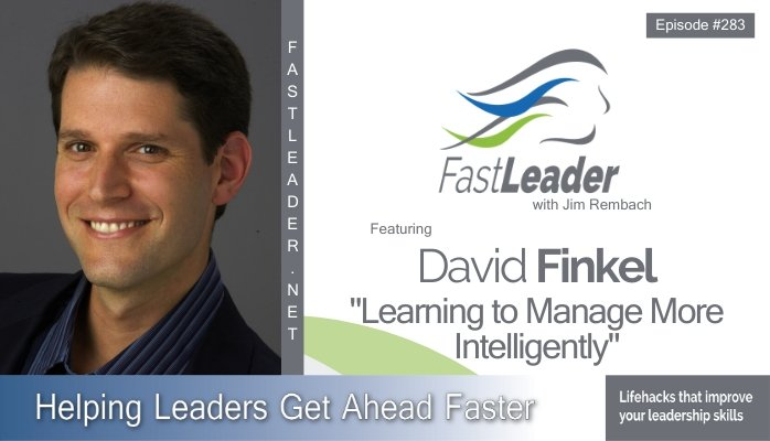 283: David Finkel – Learning to Manage More Intelligently