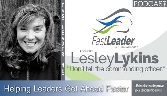 Lesley Lykins in the Fast Leader Show podcast